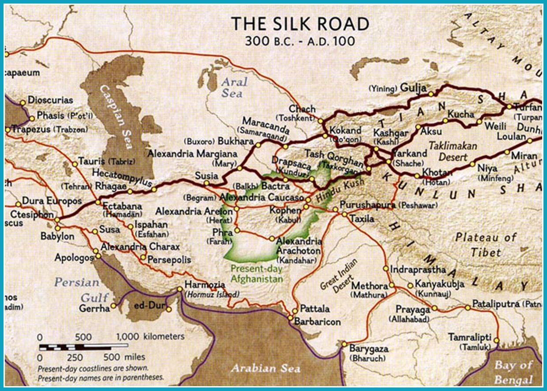carte de la route de la soie Carte route soie Chine min   atto co.com/fr/