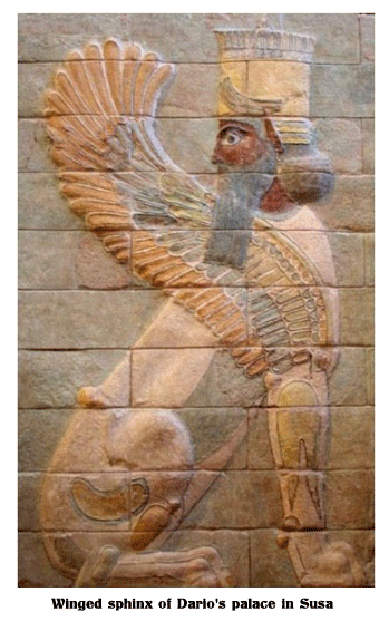 Winged-sphinx-of-Dario's-palace-in-Susa