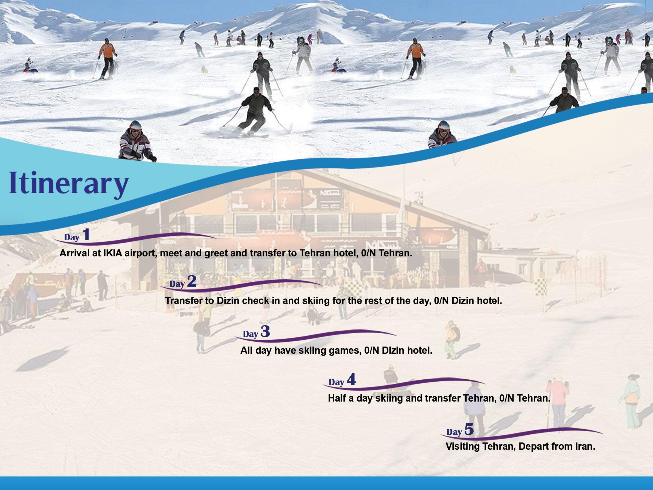 Dizin-Skiing