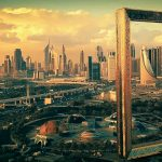 Dubai Frame-UAE, the Dubai Frame, Dubai Frame at Zabeel Park.
