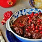 Fesenjoon, Fesenjan stew, Khoreshte Fesenjan.
