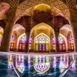 The pink mosque, Nasir mosque – Shiraz Iran, Nasir Al-Mulk Mosque.