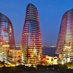 Flame tower, flame towers –Baku, Flame towers Baku Azerbaijan, Flame towers in Baku