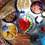 sobhaneh, breakfast in Iran.