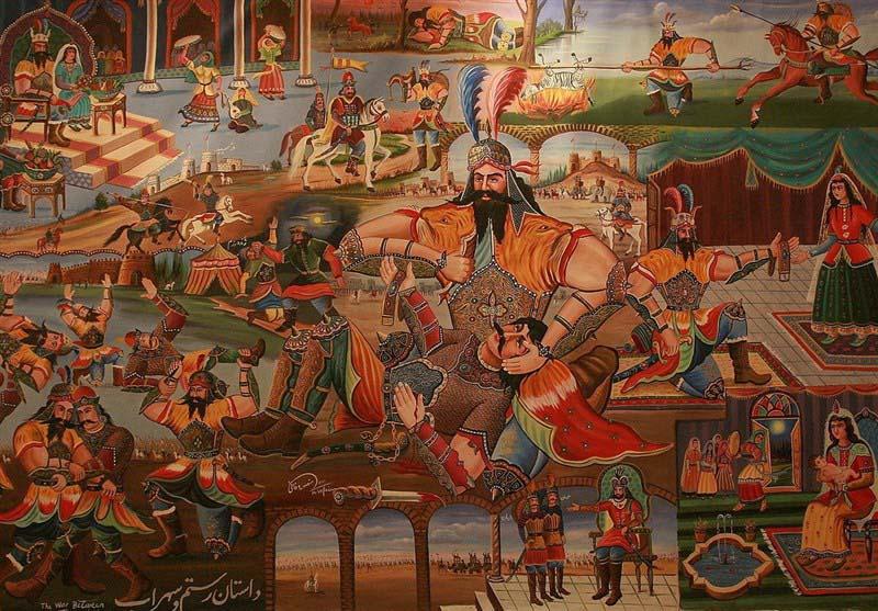 Sohrab and Rostam War display