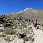 Trekking Damavand, toward camp two (3050 m)