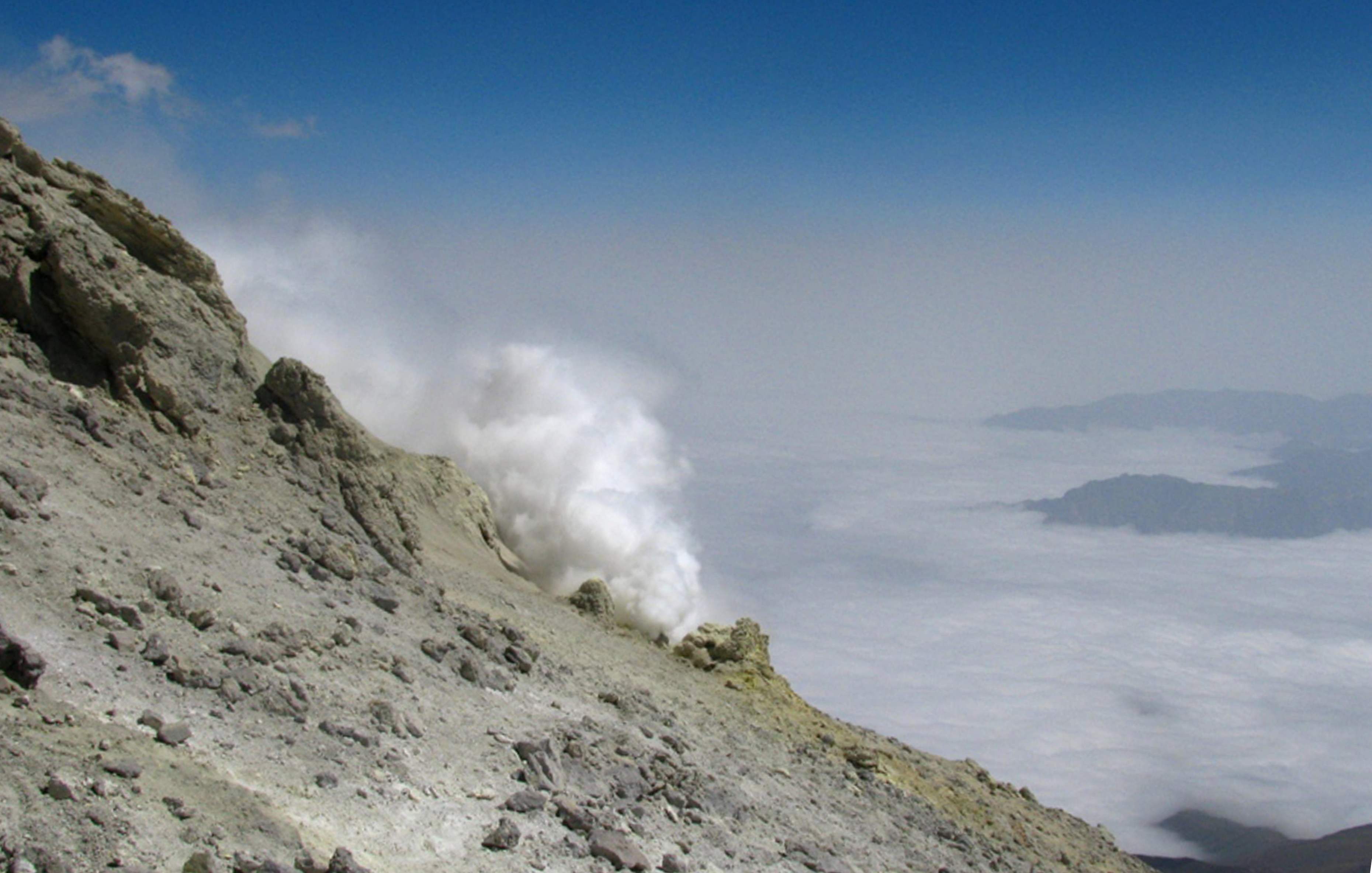 14. The Conduit of Sulfur Dioxide Before The Summit of Damavand