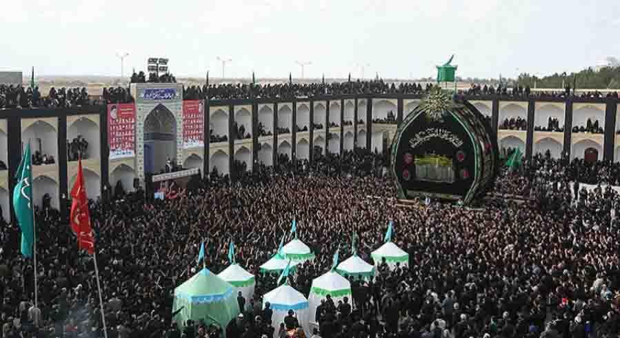 muharram Rituals, Nakhl Gardani Yazd