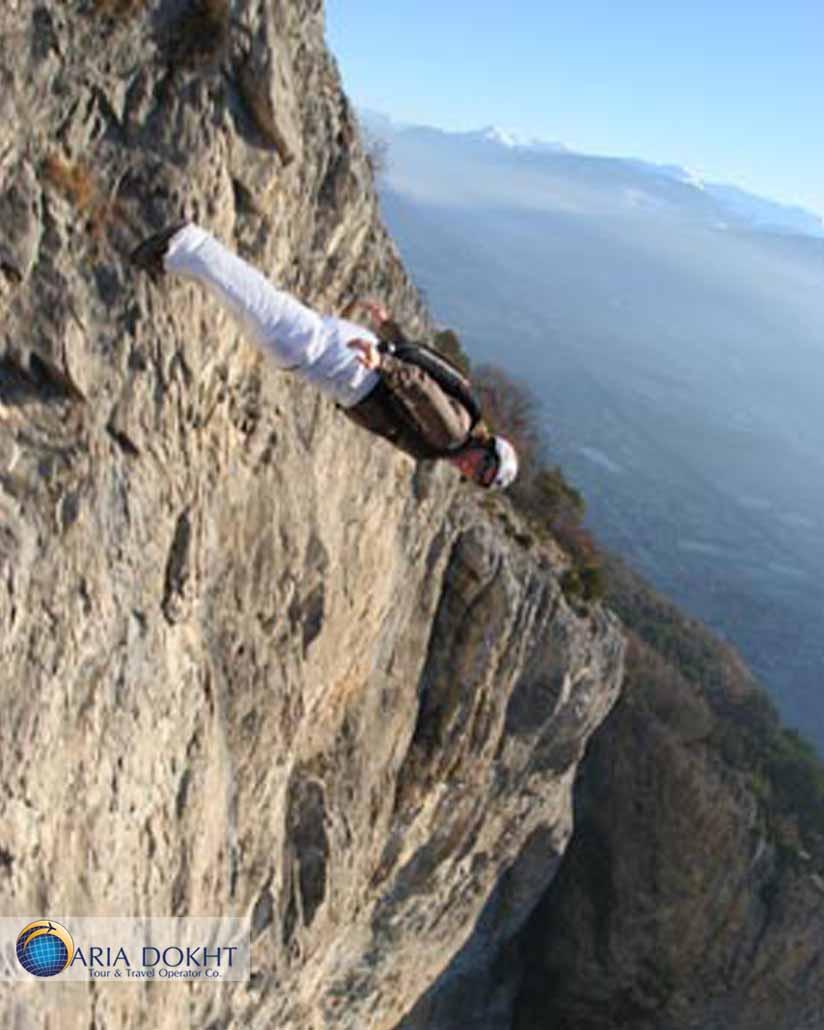 Base jumping in Bisotun- Geraldine Fasnacht