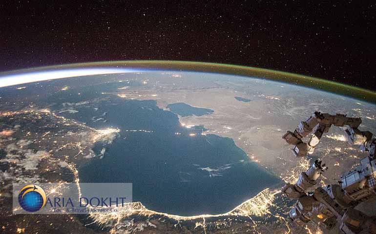 Caspian sea from the sky
