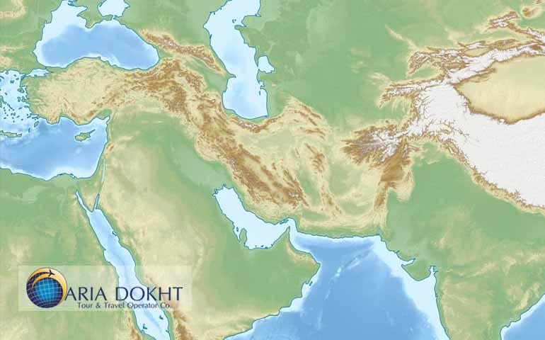 Map of Iranian Plateau