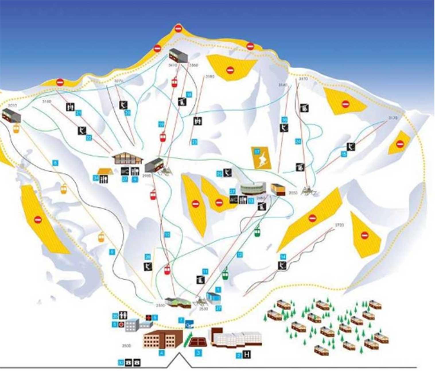 Dizin-Ski-Resort-Map